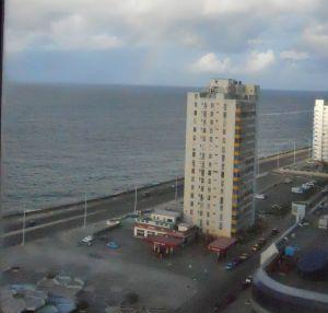 Malecón visto da janela do hotel