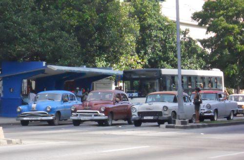 sinal fechado em Cuba
