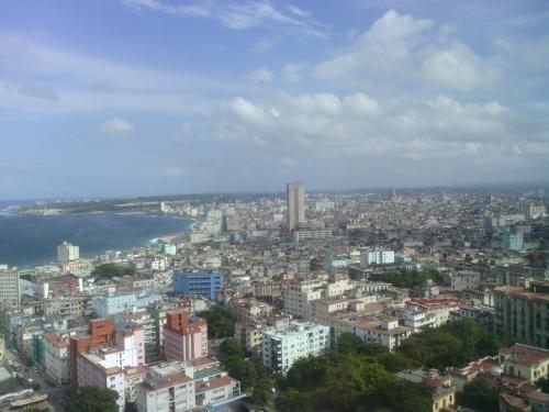 Vista do alto do hotel Habana Libre
